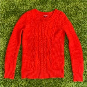 Merona knit sweater in red